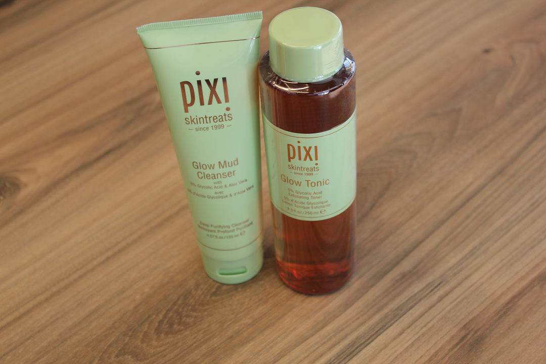 A Pixi glow tonic and a mud cleanser to go with it.