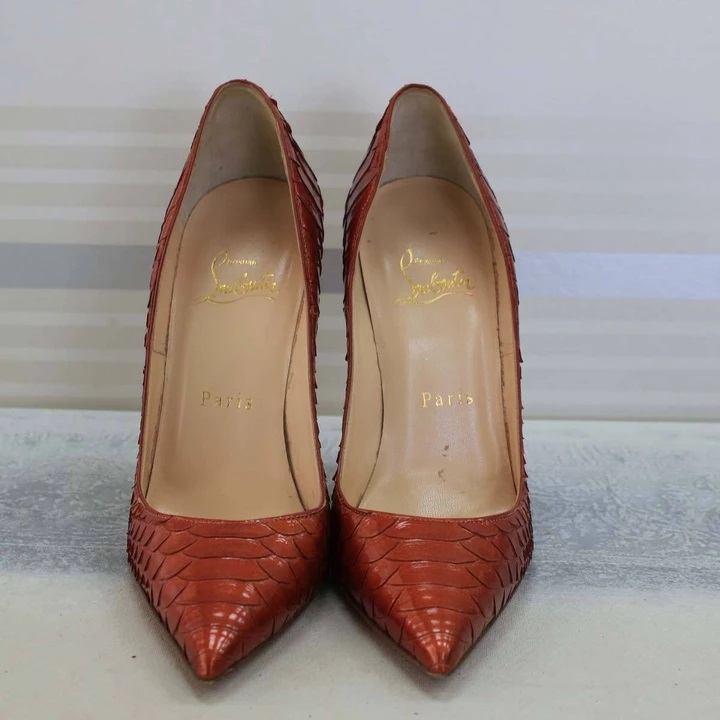 Like this chilli-hot So Kate Python skin heel pair from Louboutin available for sale. on closetsm.com